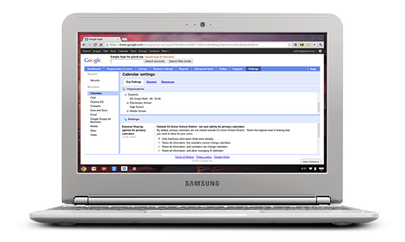 Chromebook kompiuterių administravimas