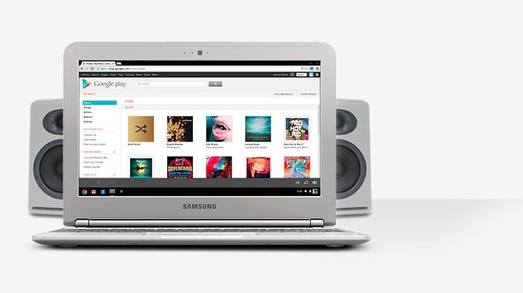 Chromebook muzika
