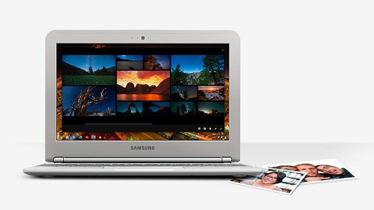 Chromebook nuotraukų peržiūra ir koregavimas