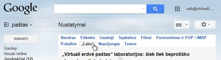 Gmail Nustatymai Labs